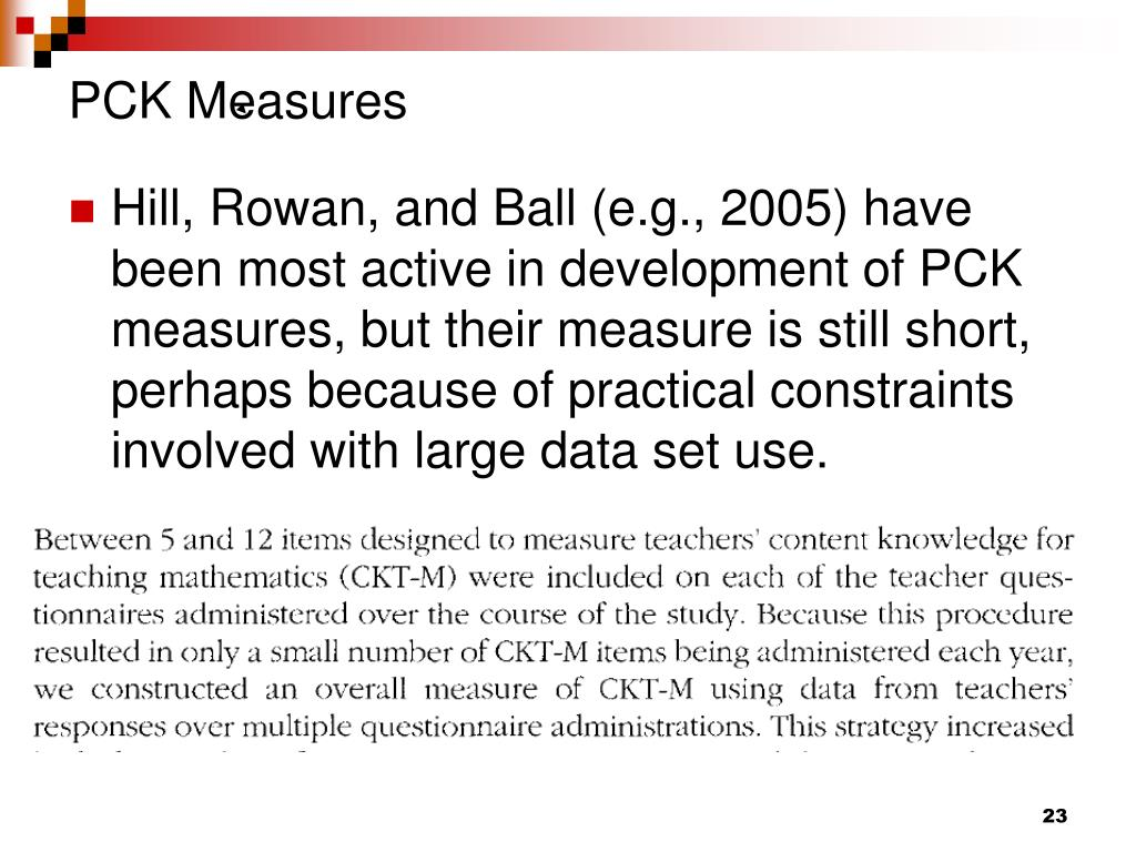 PCK Measures