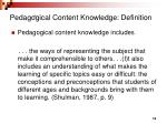 pedagogical content knowledge definition12