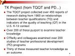 tk project from tqqt and pd
