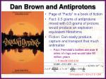 dan brown and antiprotons