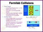 fermilab collisions