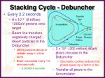 stacking cycle debuncher