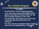 fly a teacher program