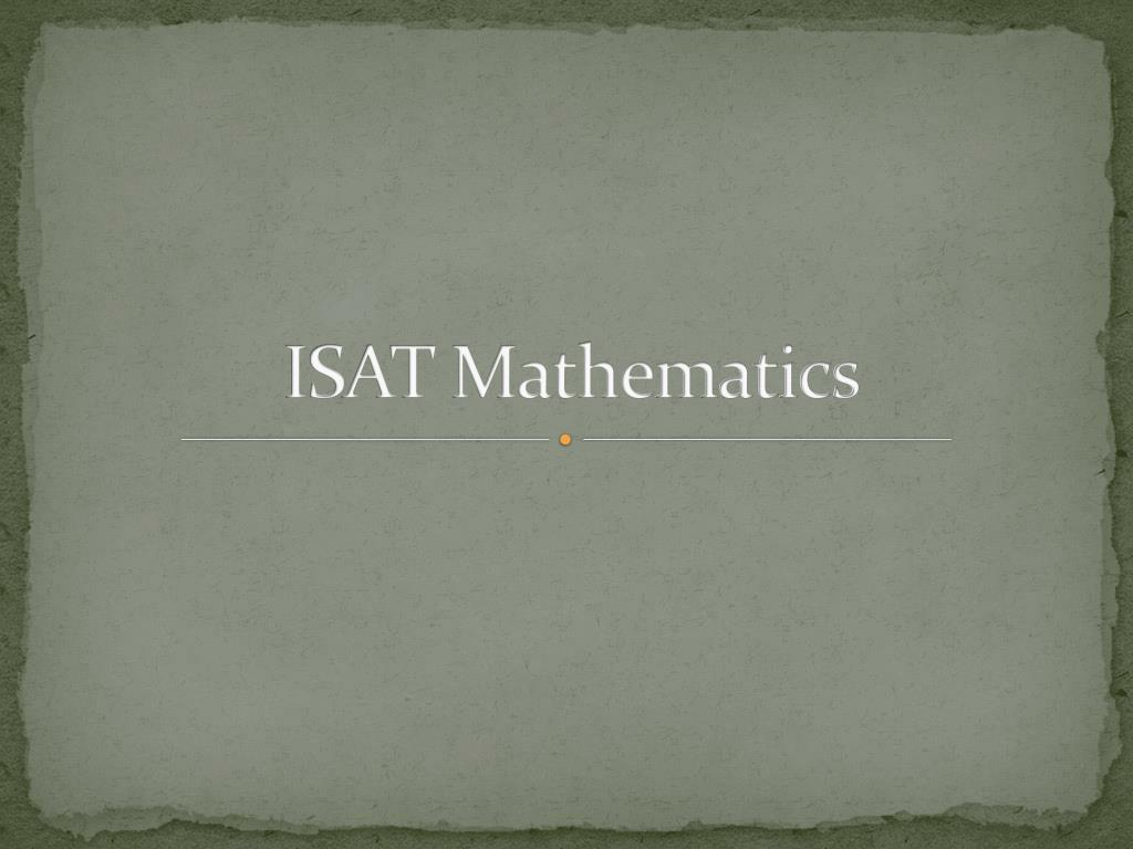isat mathematics l.