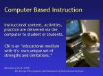 computer based instruction