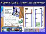 problem solving concert tour entrepreneur