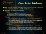 player control datasource
