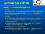 9100 2008 key changes