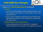 9100 2008 key changes28