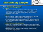 9100 2008 key changes34