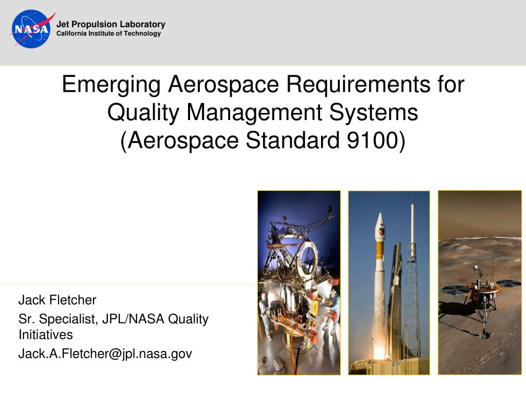 emerging aerospace requirements for quality management systems aerospace standard 9100 l.