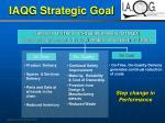 iaqg strategic goal