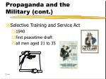propaganda and the military cont