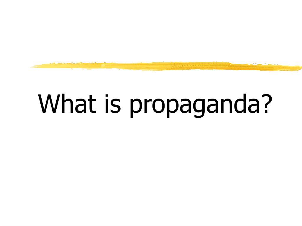 what is propaganda l.