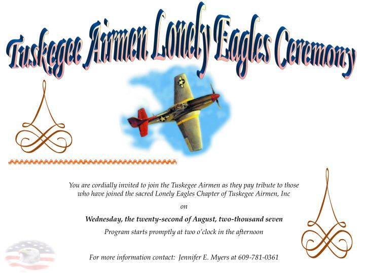Tuskegee Airmen Lonely Eagles Ceremony