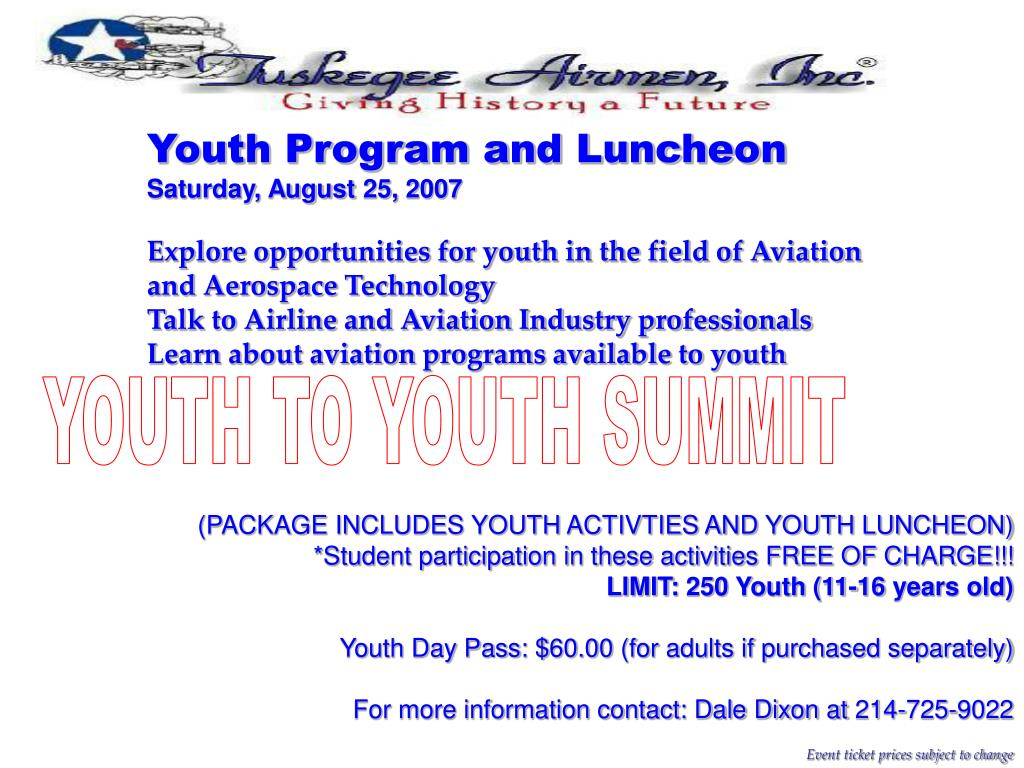 Youth Program and Luncheon