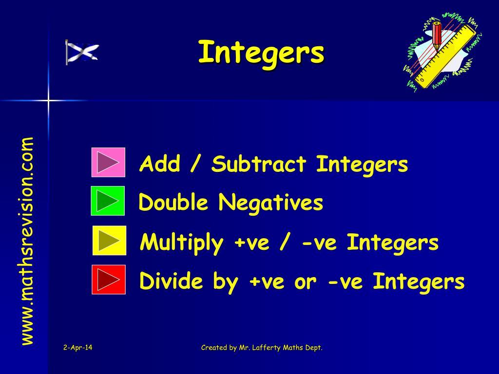integers l.