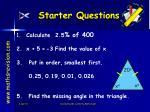 starter questions14
