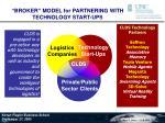 broker model for partnering with technology start ups