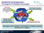 interested in technology convergence of enabling technologies