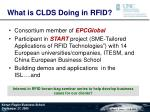 what is clds doing in rfid