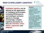 what is intelligent logistics