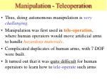 manipulation teleoperation