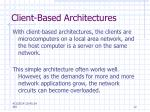 client based architectures12
