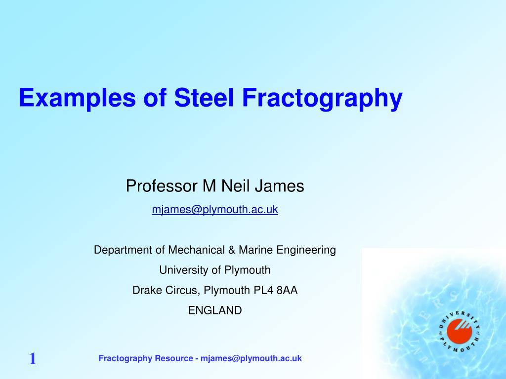 examples of steel fractography l.