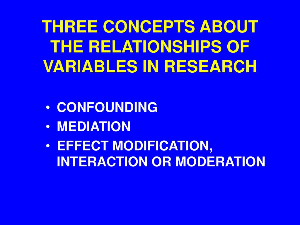 three concepts about the relationships of variables in research l.