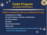 cadet program aerospace dimensions32