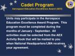 cadet program aerospace education excellence award aex