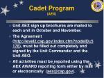 cadet program aex
