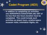 cadet program aex37