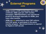external programs aem67