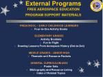 external programs free aerospace education program support materials
