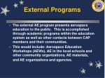 external programs