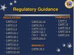 regulatory guidance26