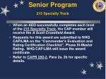 senior program 215 specialty track48