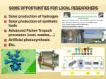 some opportunities for local researchers