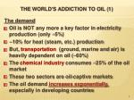 the world s addiction to oil 1