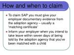 how and when to claim