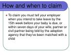 how and when to claim30