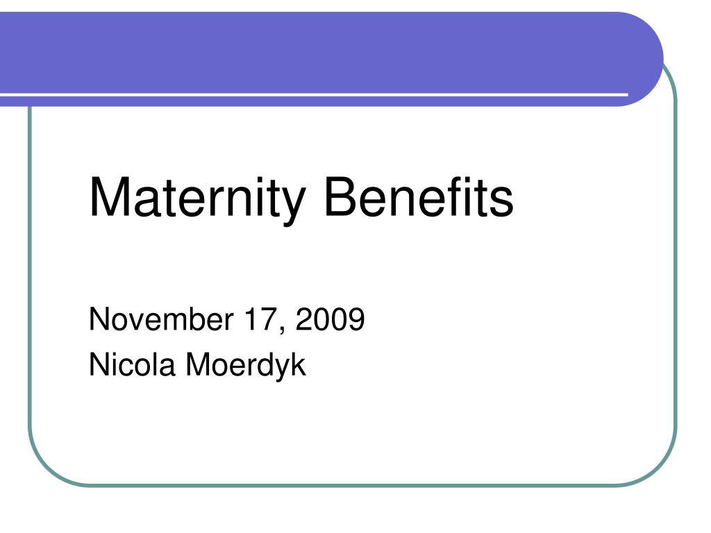 maternity benefits l.