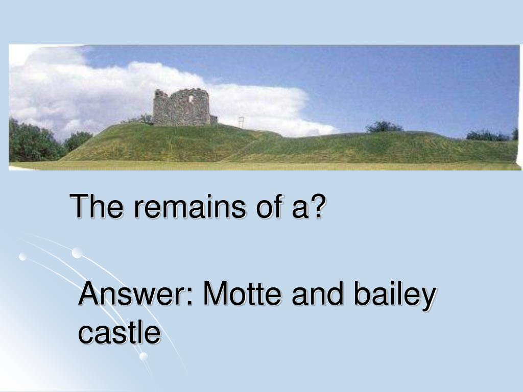 answer motte and bailey castle l.