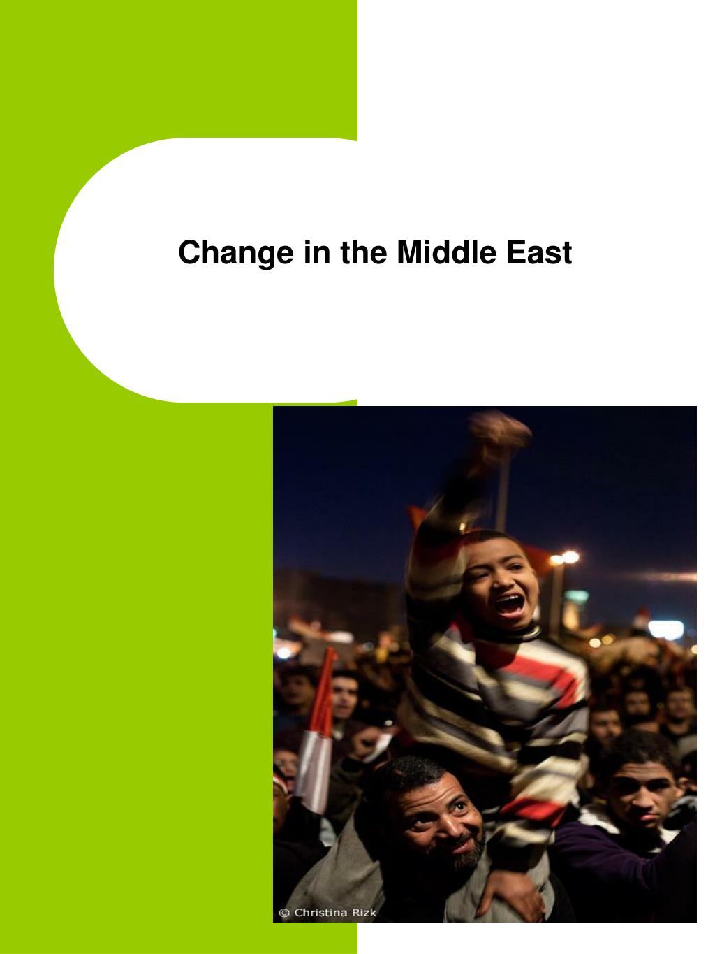 change in the middle east l.