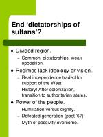 end dictatorships of sultans