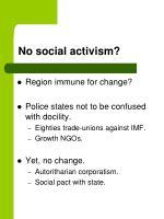 no social activism