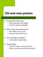 old and new powers