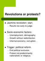 revolutions or protests